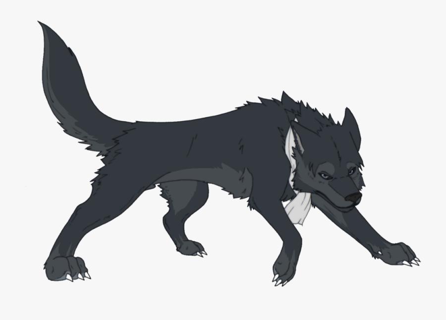 Wolf Cartoon Png - Cartoon Black Wolf Png, Transparent Clipart