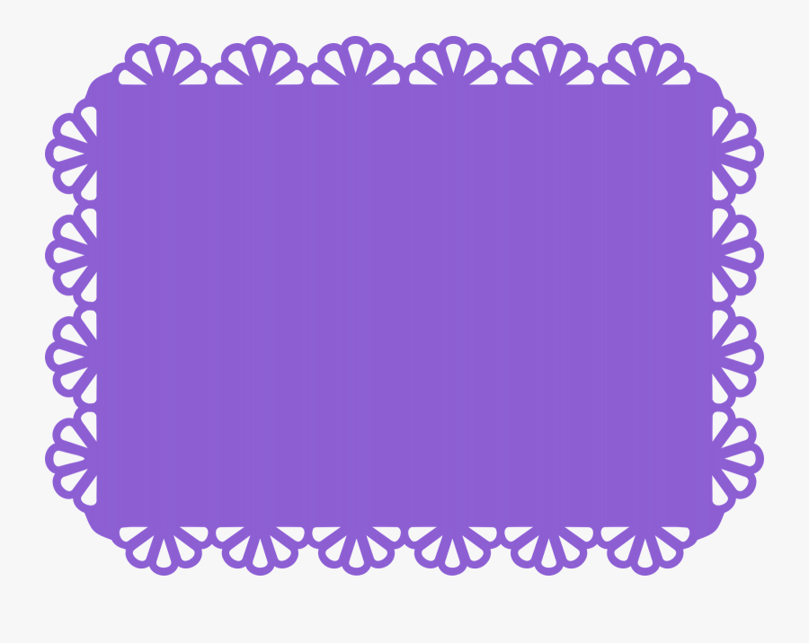 Scalloped Rectangle Frame Clipart - Scalloped Rectangle, Transparent Clipart