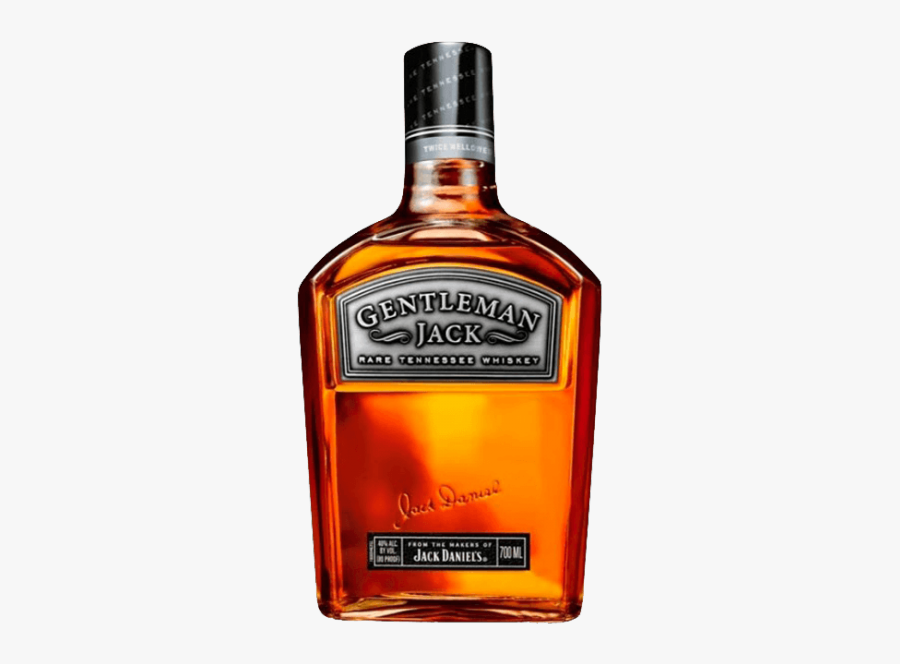 Tennessee Whiskey Distilled Beverage Bourbon Whiskey - Jack Daniel Gentleman Whisky, Transparent Clipart