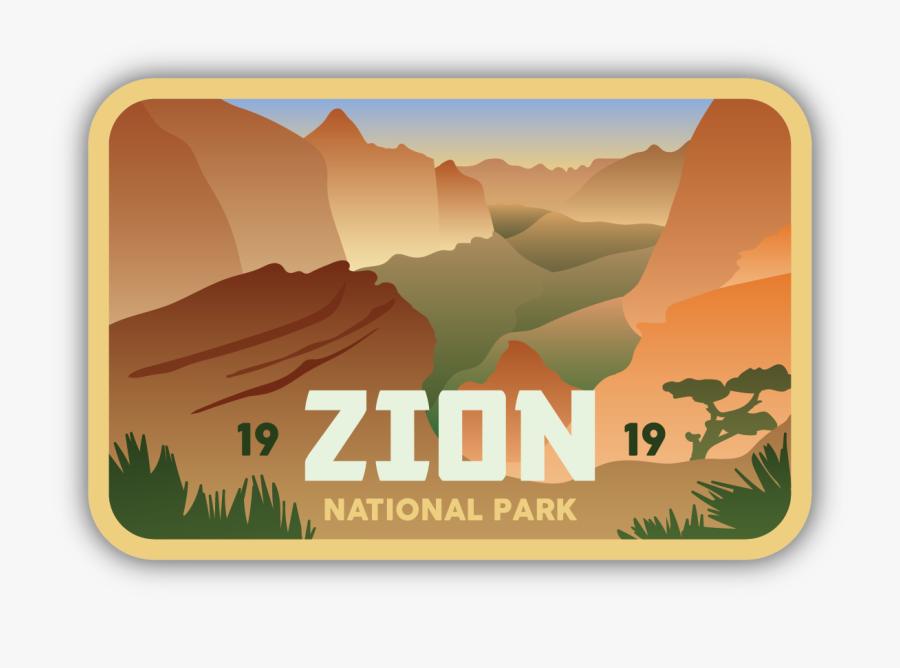 Zion National Park Stickers, Transparent Clipart