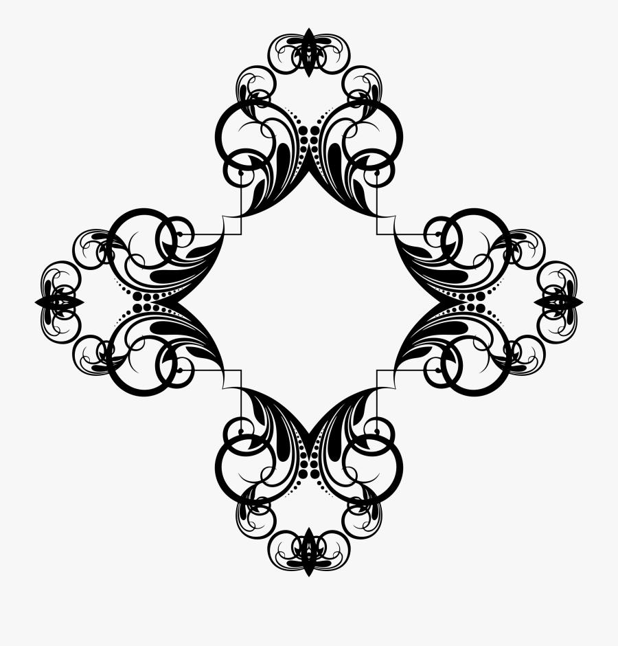Design Border Decorative Clipart Png, Transparent Clipart