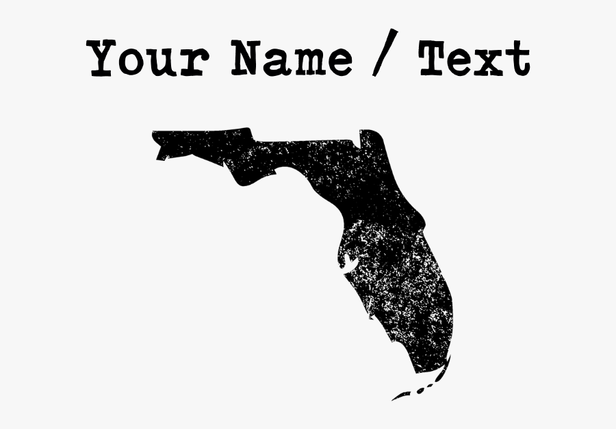 Custom Distressed Florida Silhouette Journal - Florida State Map Png, Transparent Clipart