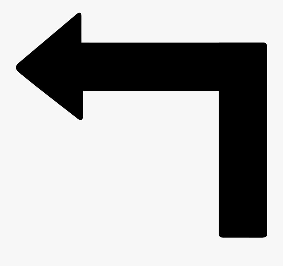 Transparent Fancy Arrow Png - Left Turn Arrow Icon, Transparent Clipart