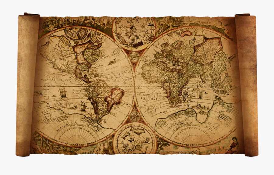 Clip Art Vintage Old Map By - Marco Polo Old Maps, Transparent Clipart