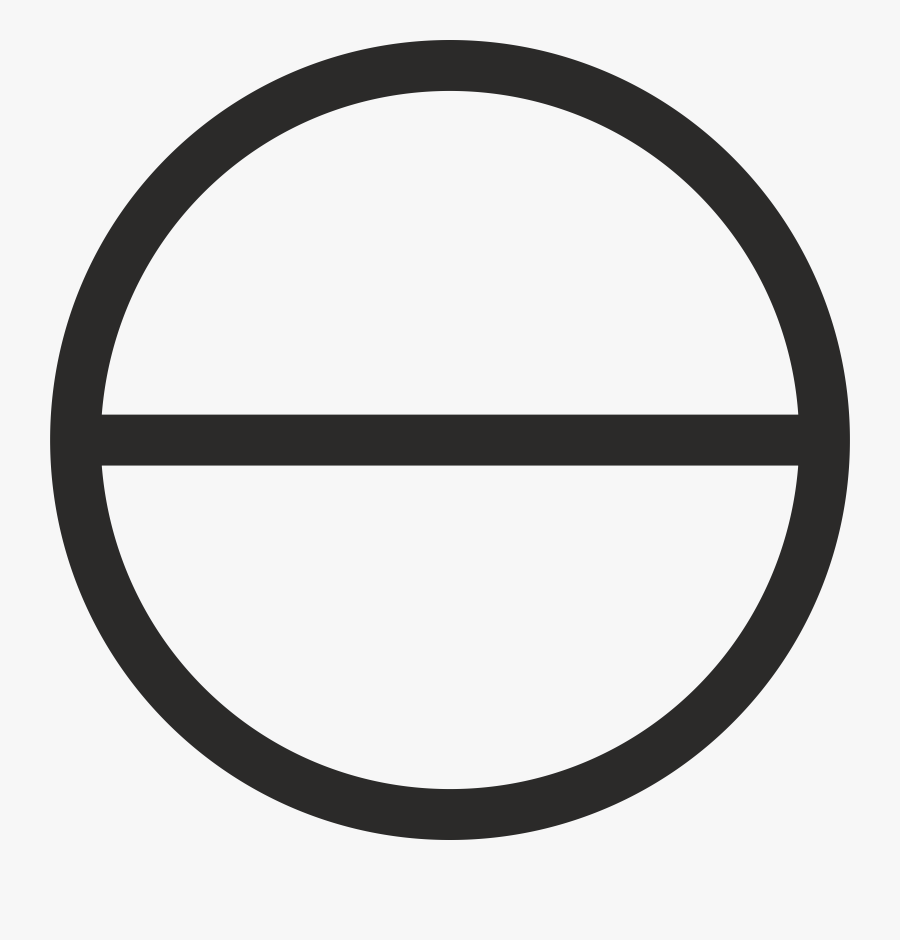 Circle With Horizontal Diameter Clip Arts - Gloucester Road Tube Station, Transparent Clipart
