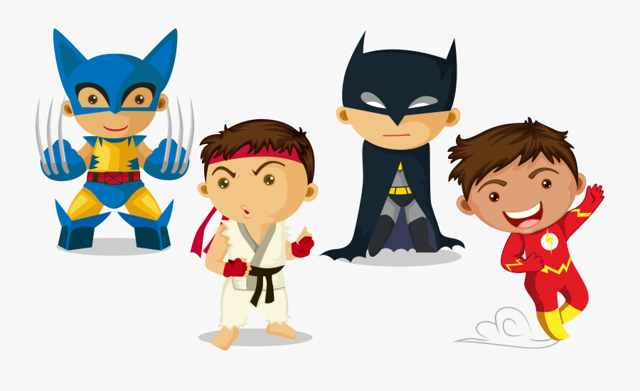 Transparent Super Hero Kid Clipart - Kids Superhero Vector, Transparent Clipart