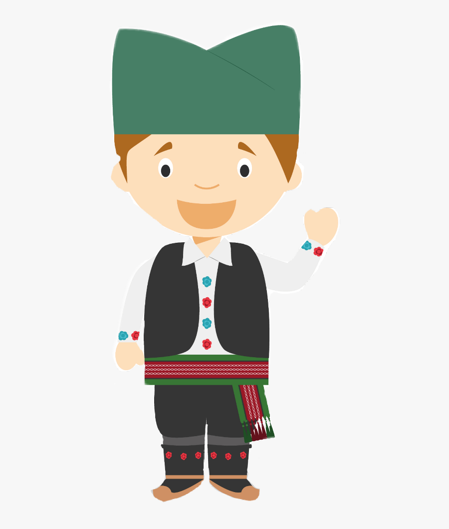 Transparent Boy Putting On Clothes Clipart - Serbian Traditional Clothes Vector, Transparent Clipart