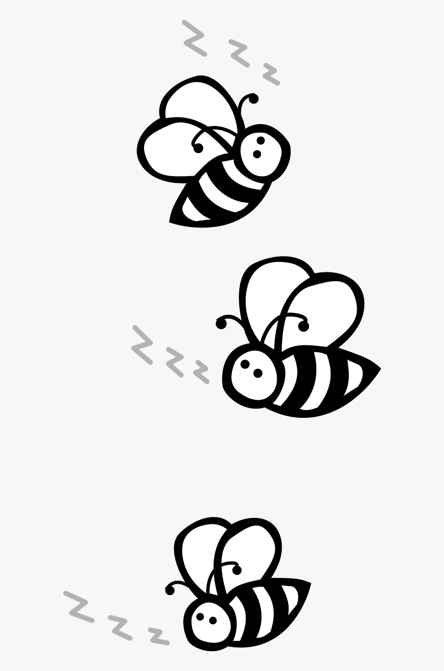 Bees Flying Black And White Free Picture - Bees Clip Art Black And White, Transparent Clipart
