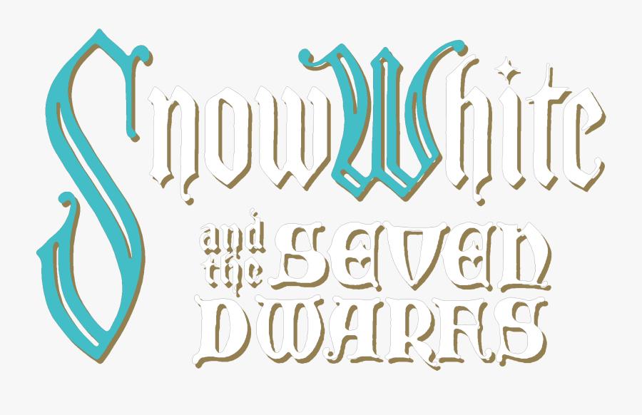 A Very Merry Un - Snow White And The Seven Dwarfs Title Disney, Transparent Clipart