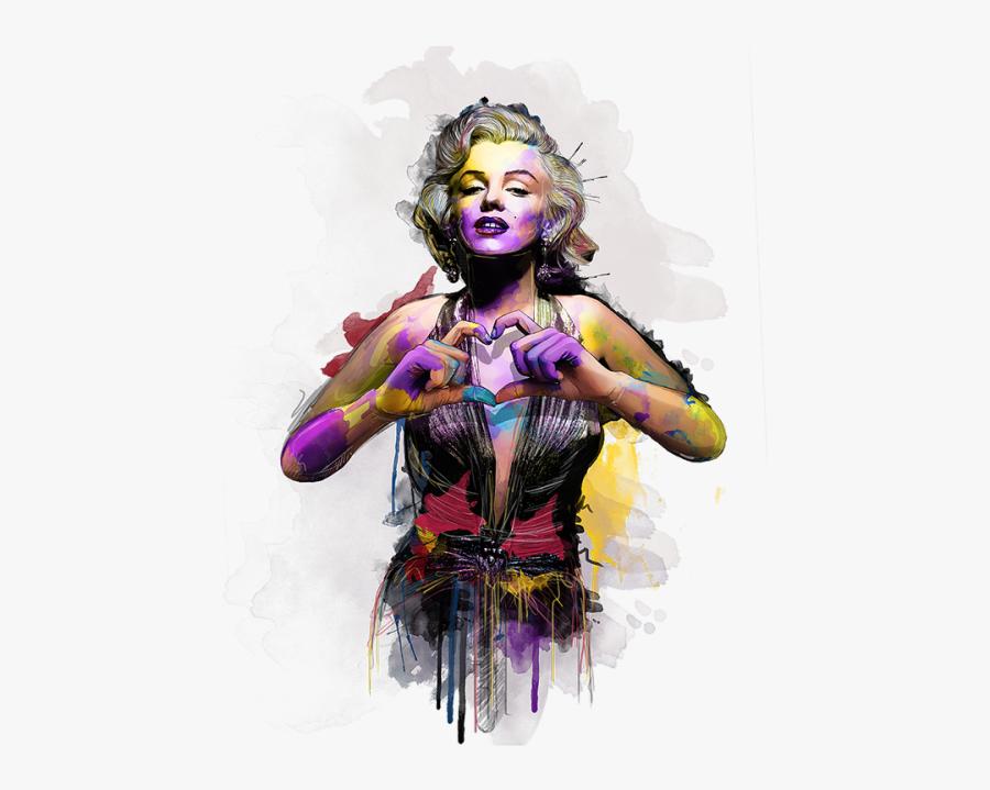 Katt Phatt @kattphatt - Marilyn Monroe Fan Art, Transparent Clipart