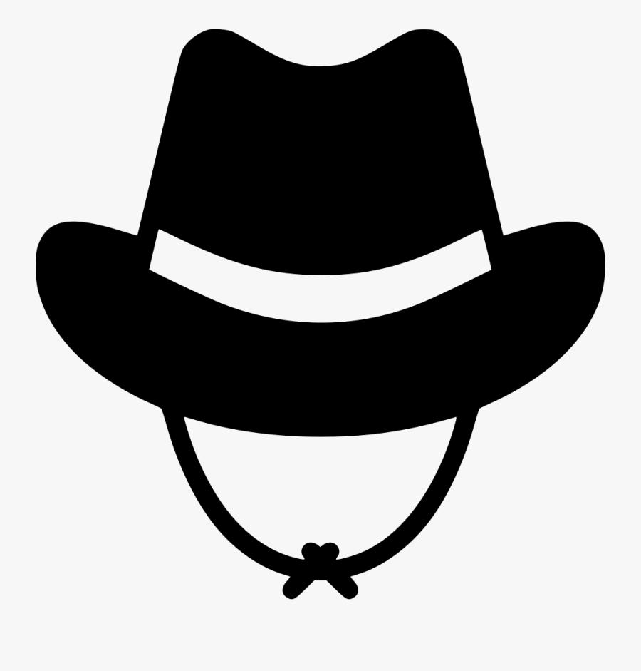 Transparent Cowboy Hat Clipart Black And White - Cowboy Hat Icon Transparent Png, Transparent Clipart