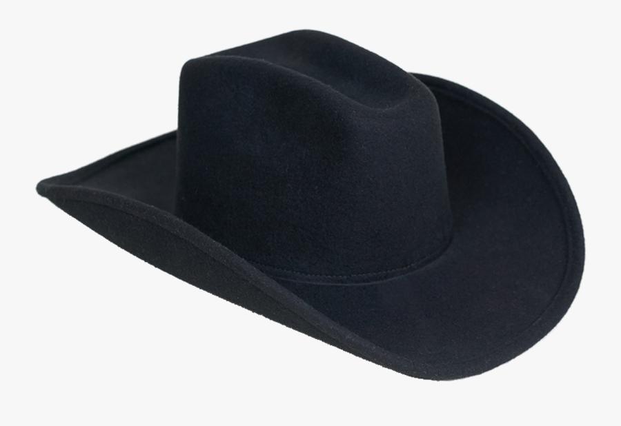 All Black Cowboy Hat, Transparent Clipart