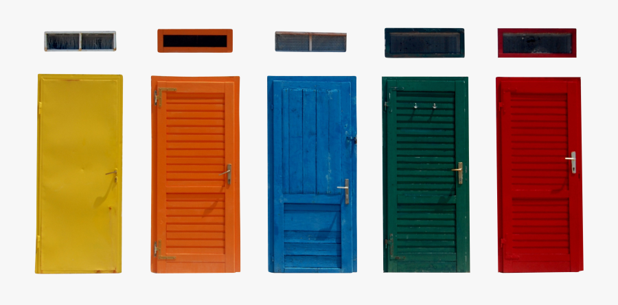 Multicolored Closed Door Png Image - Window And Door Color, Transparent Clipart