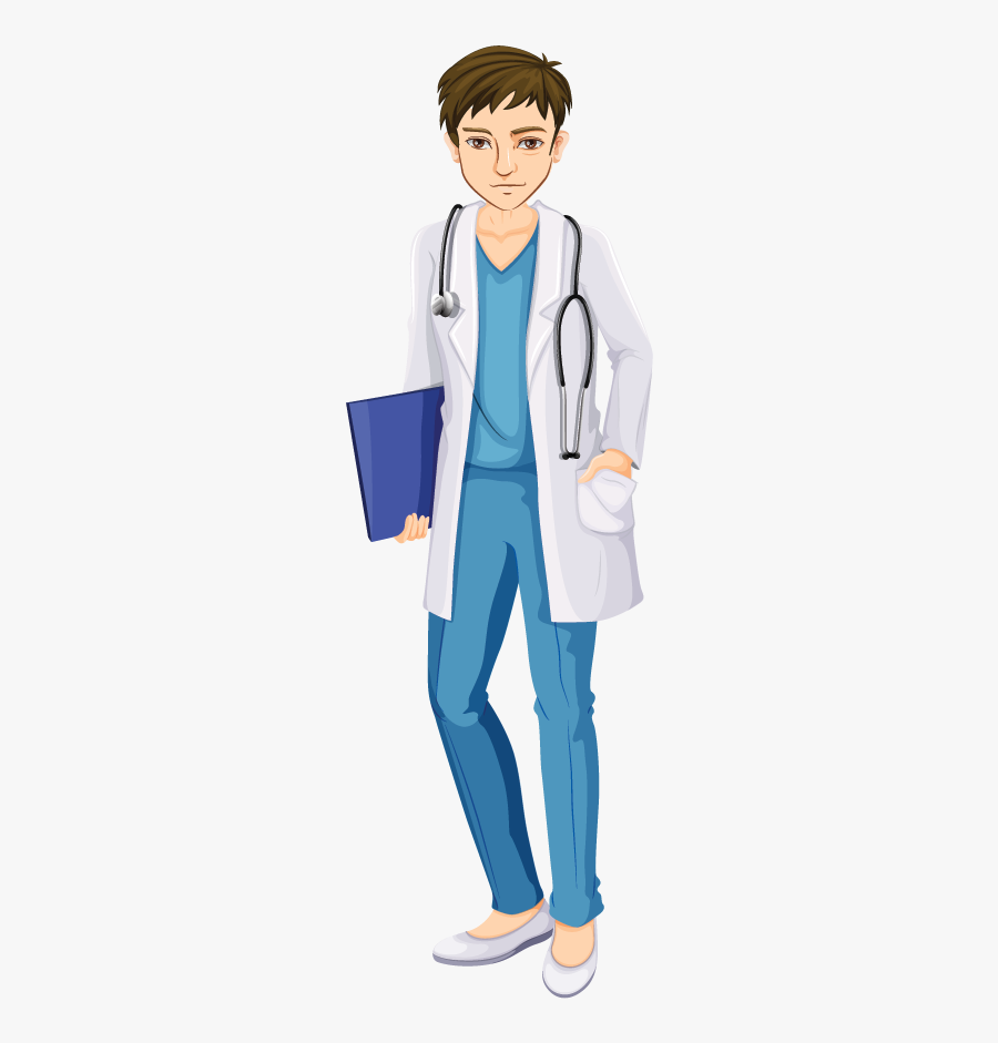 Easy Drawing Of A Girl Doctor, Transparent Clipart