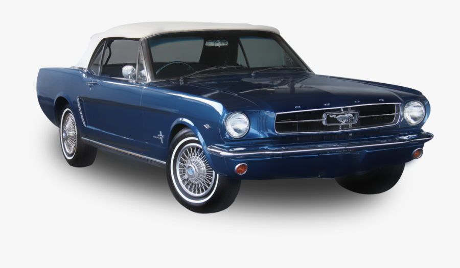 Car First Generation Ford Mustang Ford Motor Company - Old Car Transparent Background, Transparent Clipart