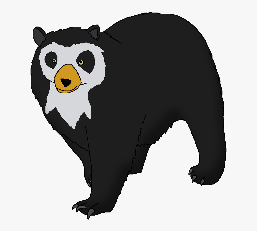 Wildlife Animal Pedia Wiki - Spectacled Bear Colombia Cartoon, Transparent Clipart