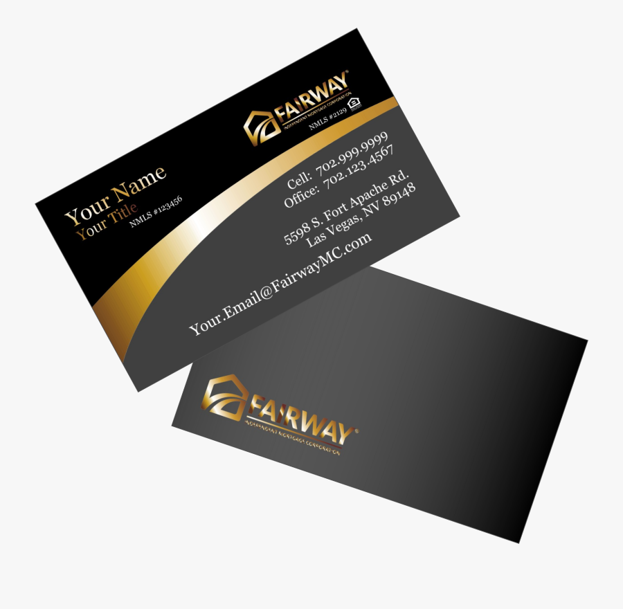 Fairway Mortgage Business Cards - Graphic Design, Transparent Clipart