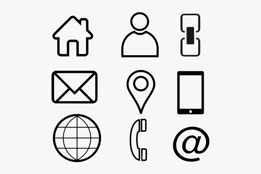 Icon For Business Card Png, Transparent Clipart
