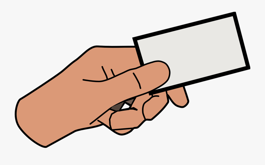 Hand Card Holding Business Png Image - Hand Holding Paper Clipart, Transparent Clipart