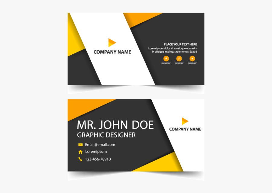 Clip Art Business Card Templates Psd Free Download - Vector Visiting Card Design Png, Transparent Clipart