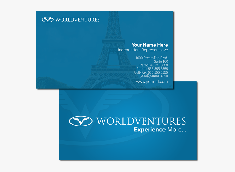Worldventures Business Cards, Transparent Clipart