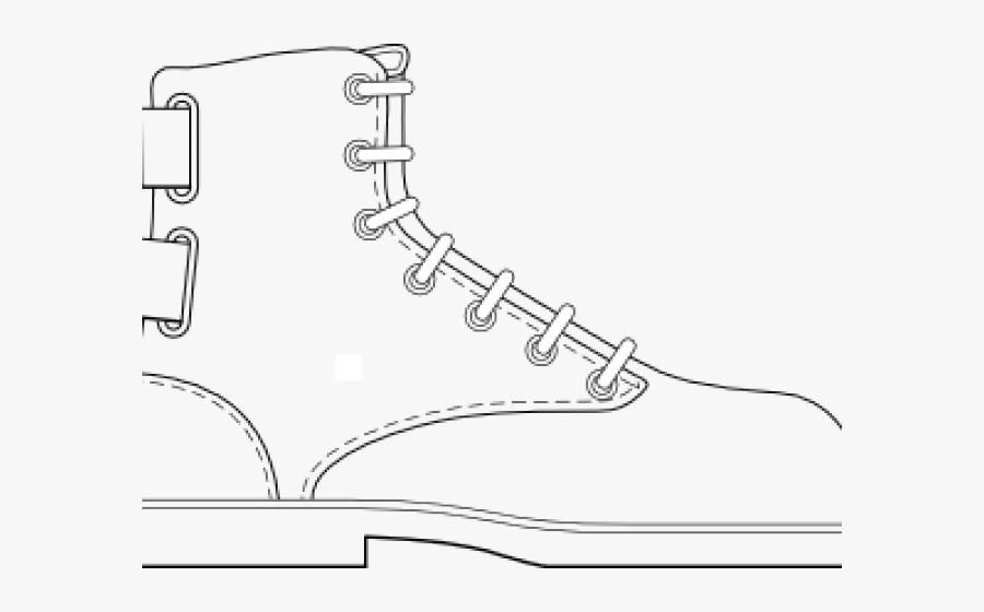 Transparent Combat Boots Clipart - Draw A Cartoon Boot, Transparent Clipart