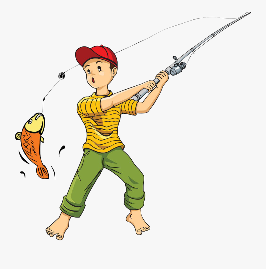 Transparent Fisherman Clipart - Catch A Fish Png, Transparent Clipart
