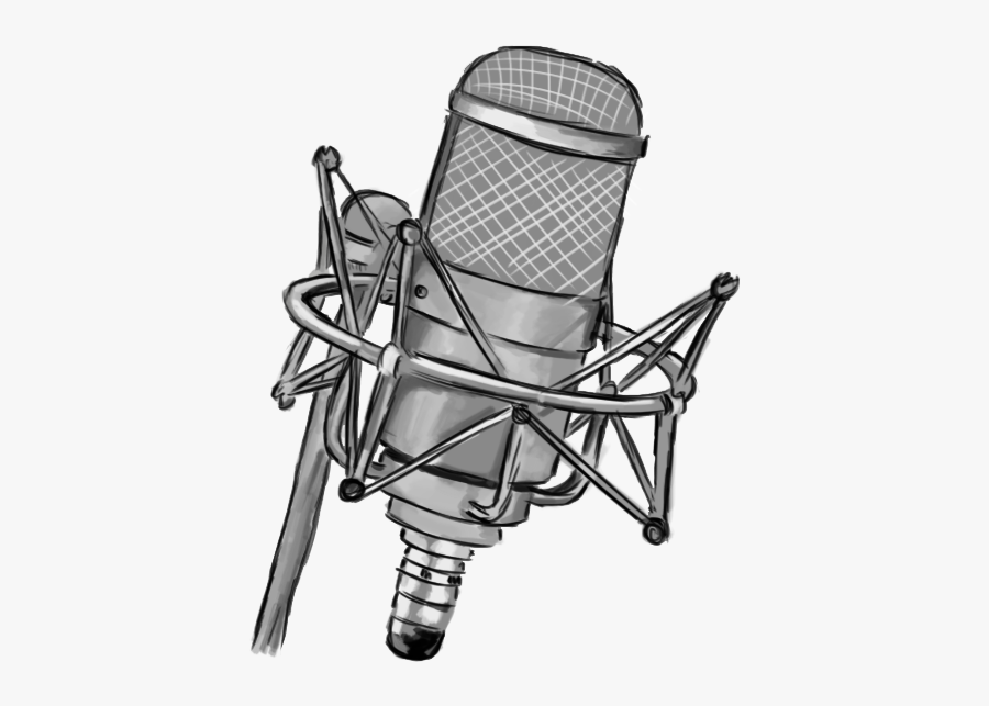 Microphone Clipart Drawing - Recording Microphone Clip Art, Transparent Clipart