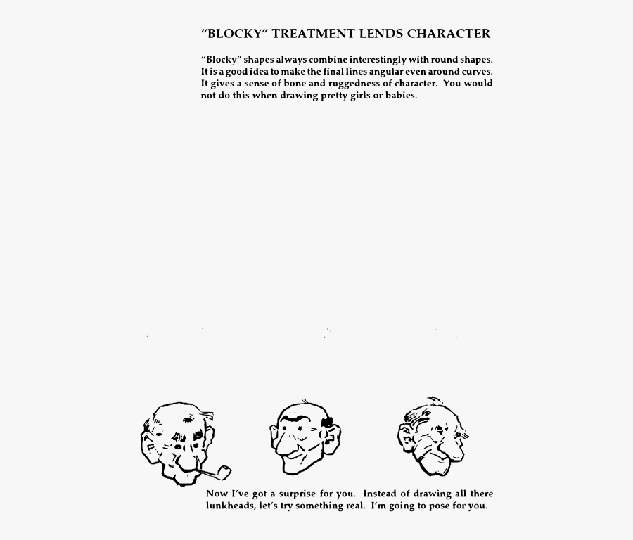 Andrew Loomis Fun With A Pencil 23 - Cartoon, Transparent Clipart