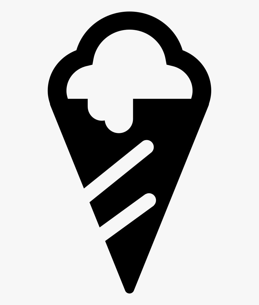 Ice Cream Cone Of Summer Beach - Silueta Helado Png, Transparent Clipart