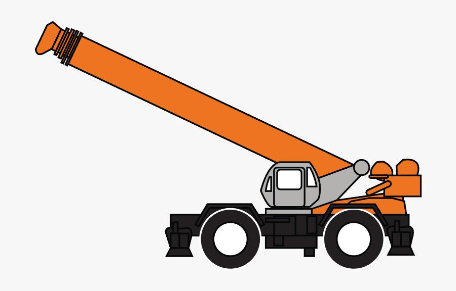 Rough Terrain Crane - Rough Terrain Crane Logo, Transparent Clipart