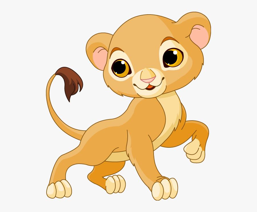Lions Clipart Baby Boy - Cartoon Lion Cub Drawing, Transparent Clipart