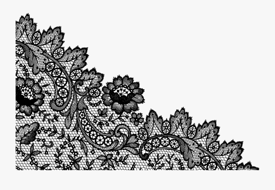Lace Pattern Lineart - Illustration, Transparent Clipart