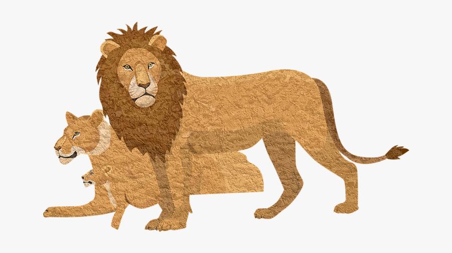 Lion Pixabay Animal Lioness Vintage Cougar - Lion King 2019 Bags, Transparent Clipart
