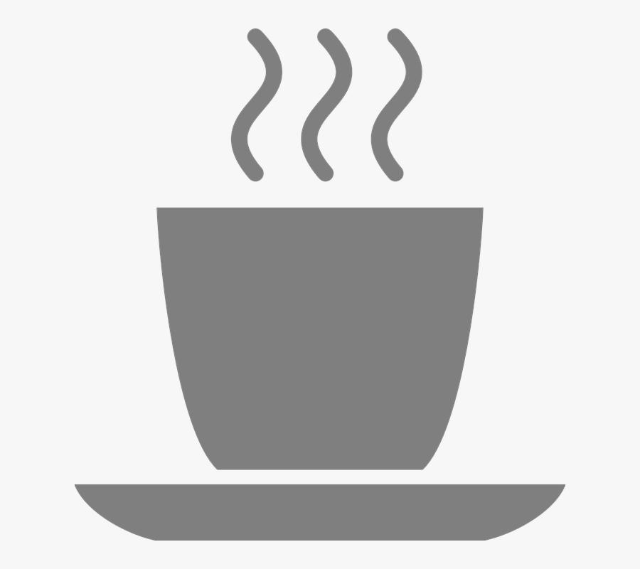 Mug, Tea, Coffee, Hot, Beverage, Gray - Grey Coffee Mug Clip Art, Transparent Clipart
