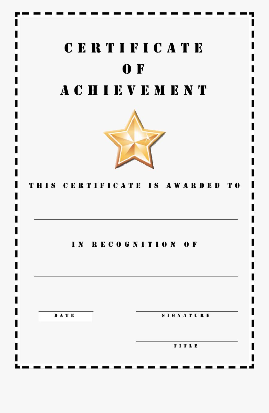 Clip Art Honor Roll Certificate Template - Certificate Template A4 Portrait, Transparent Clipart