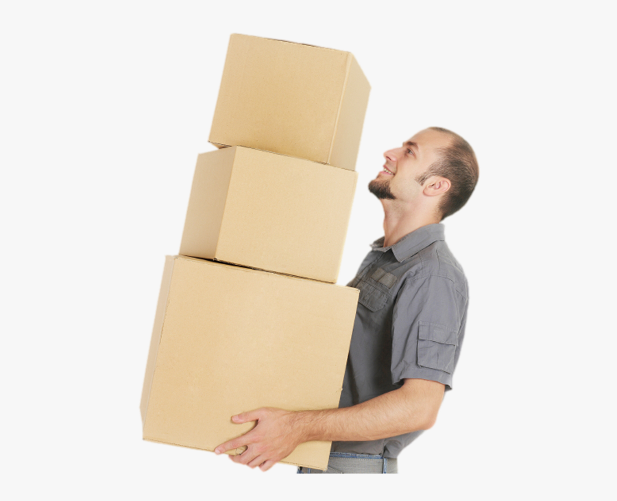 Moving Supply Needs - Guy Moving With A Box, Transparent Clipart