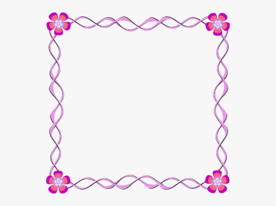 Designs Borders Frames Clipart Borders And Frames Picture - Simple Flower Border Design, Transparent Clipart