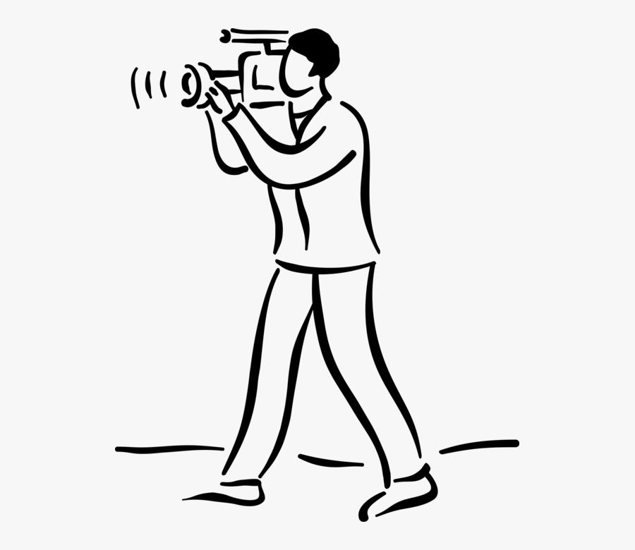 Transparent Cameraman Clipart - Camera Man Clip Art, Transparent Clipart