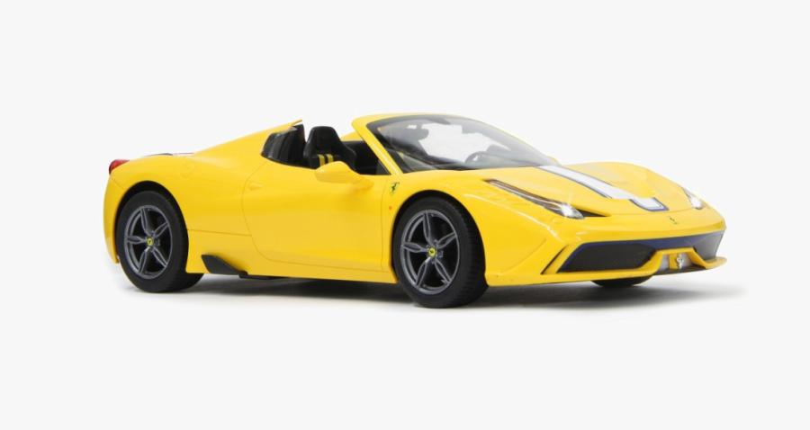 Land Car,automotive Design,yellow,motor Vehicle,coup�,ferrari - Ferrari Yellow, Transparent Clipart