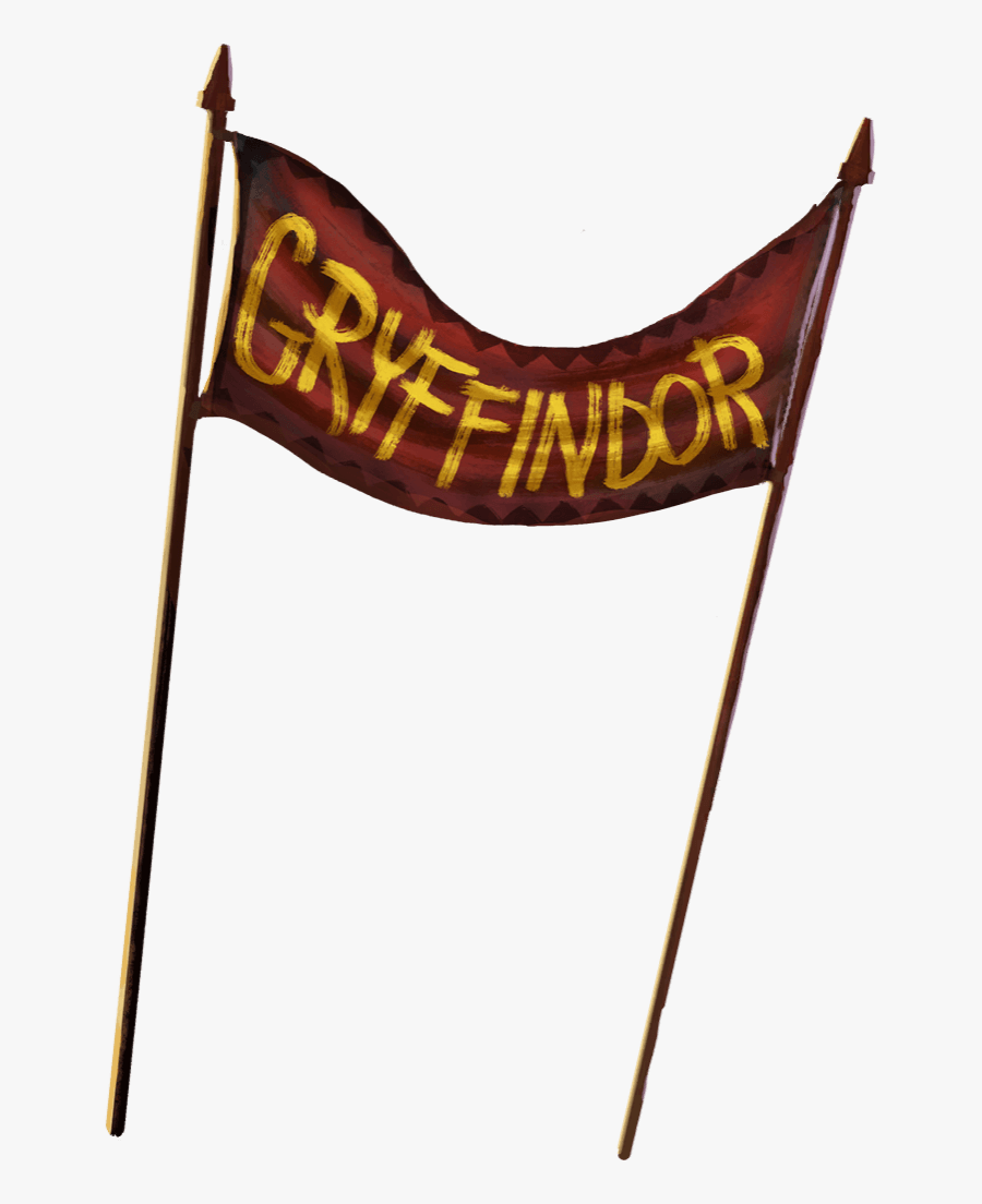 A Red Banner Strung Between Two Poles With Gryffindor - Quidditch Fan Transparent, Transparent Clipart