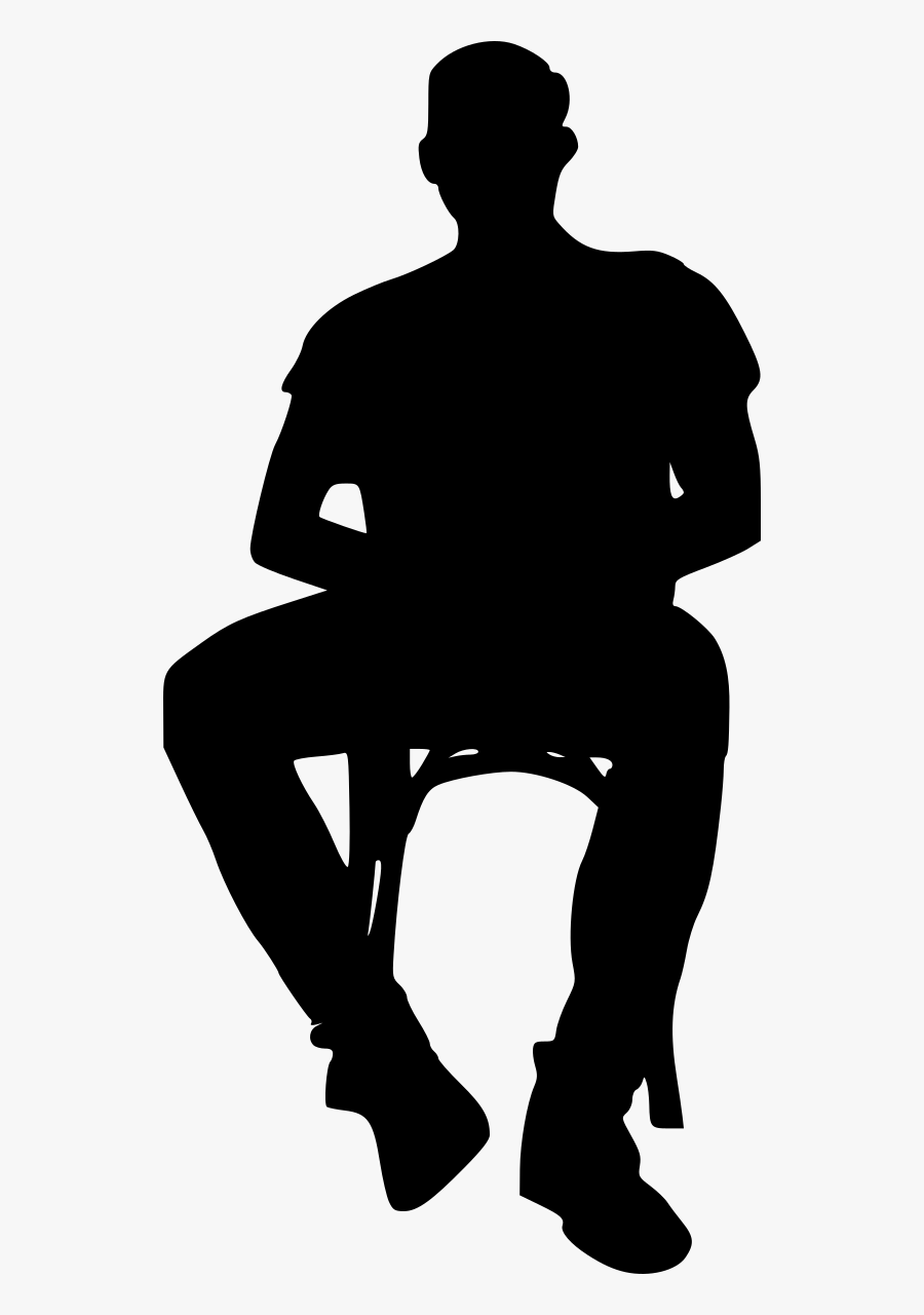 Man Sitting Silhouette Png - Silhouette Sitting In Chair, Transparent Clipart