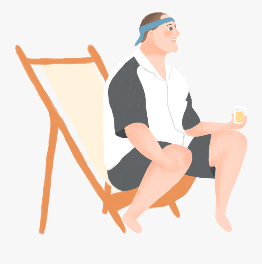 Transparent Man Sitting In Chair Clipart - รูป การ์ตูน เก้าอี้, Transparent Clipart
