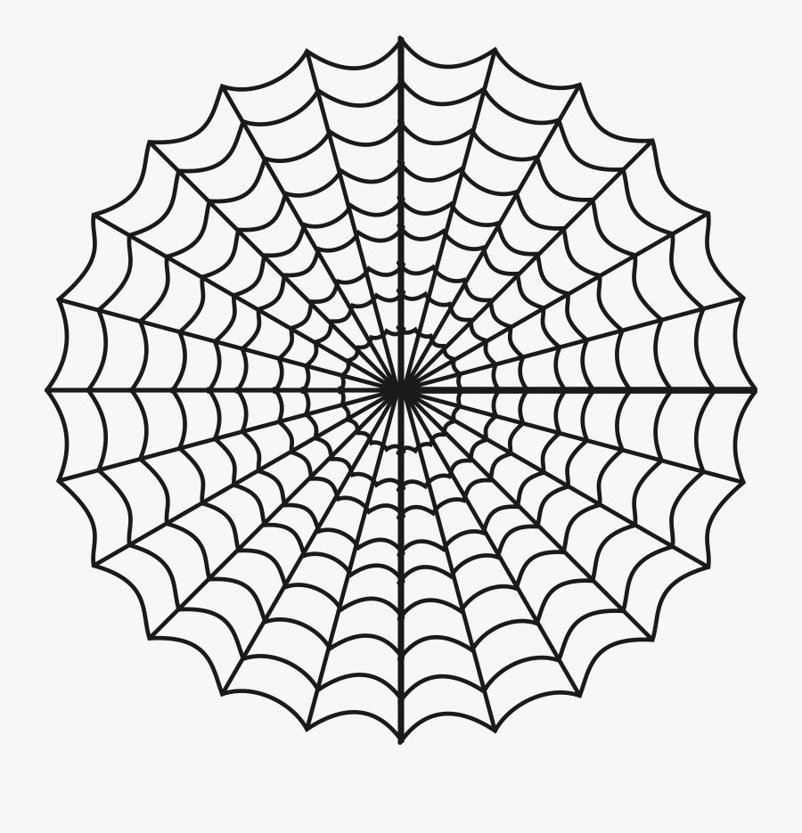 White,line,line Art,black And - Charlottes Web Spider Web, Transparent Clipart