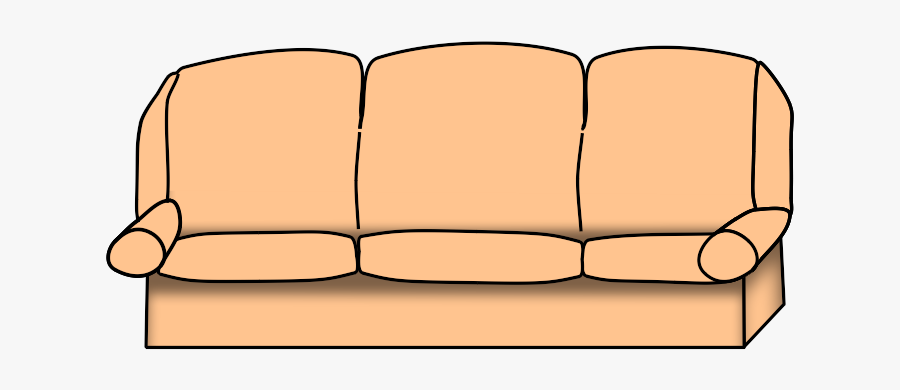 Sofa Couch Clipart Black And White Free Images - Studio Couch, Transparent Clipart