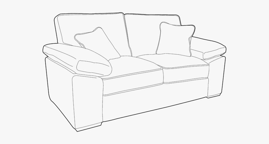 Studio Couch, Transparent Clipart