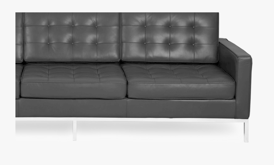 Black Sofa Png Image - Studio Couch, Transparent Clipart