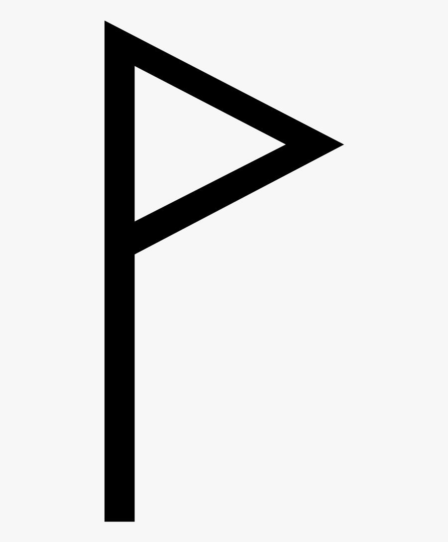 Flag Clipart Plain - علامت سری و کرن, Transparent Clipart