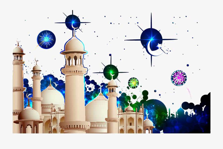 Mosque Clipart Islamic Wallpaper - Muslim Design Png, Transparent Clipart