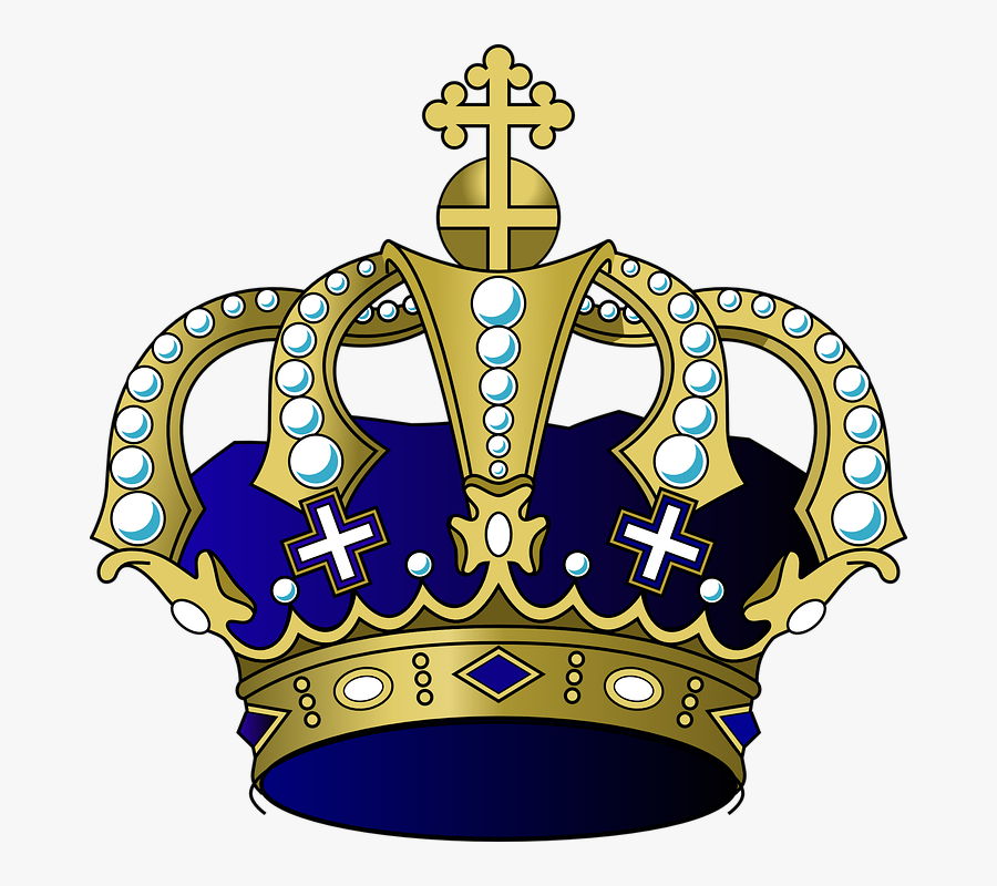 Purple And Gold Crown Png, Transparent Clipart